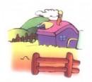 牧场简笔画图片3张