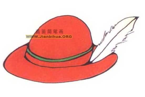 帽子简笔画图片