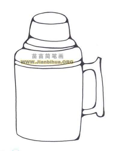 热水壶简笔画