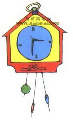 时钟简笔画