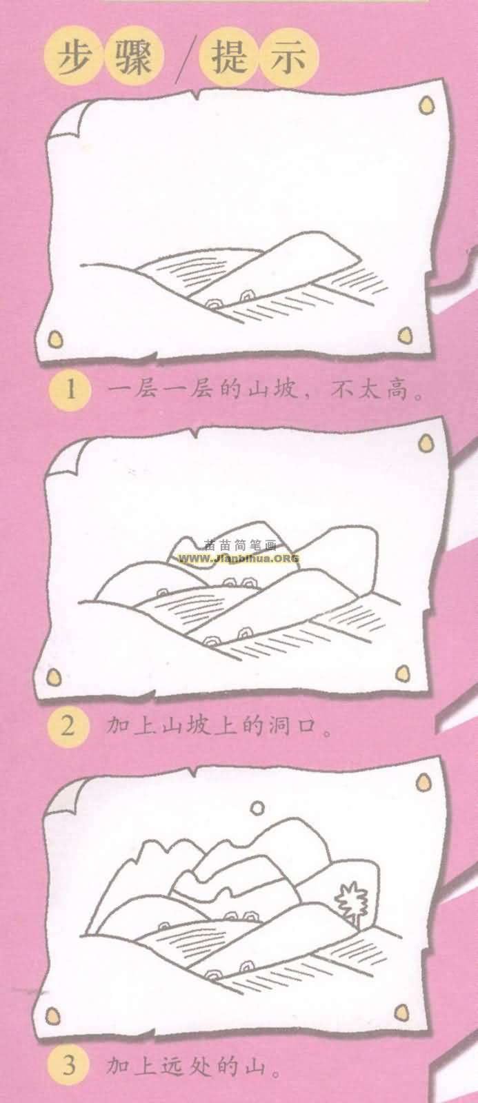 田野简笔画图片