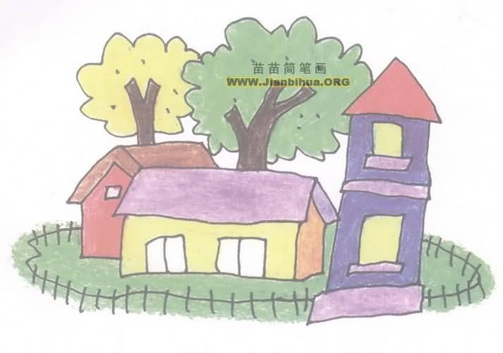 org, 苗苗简笔画网提供了建筑物简笔画,古建筑简笔画图片供你临摹.