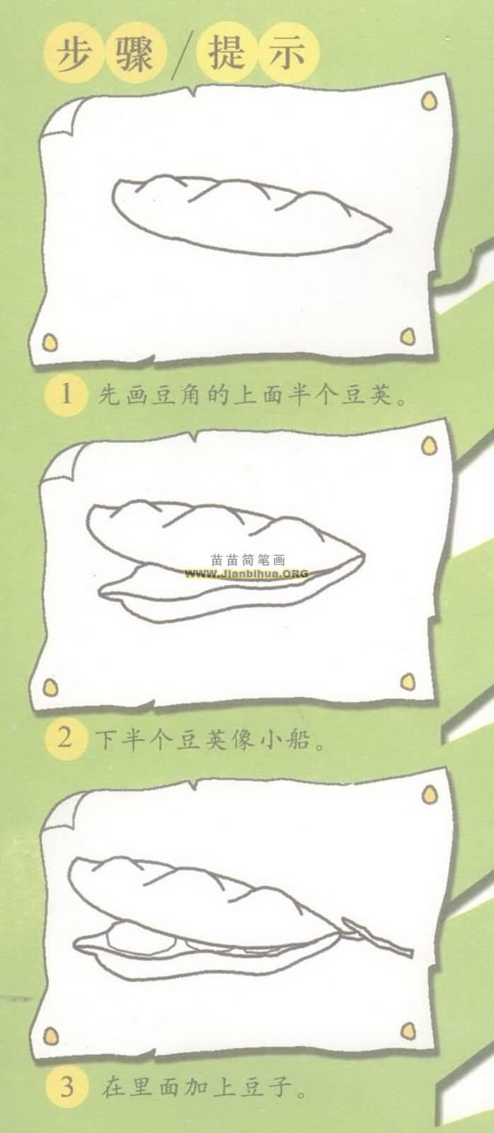 豆角简笔画图片分步骤教程