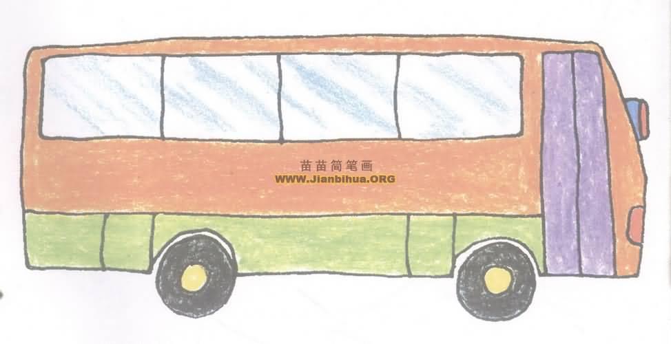 大客车简笔画图片教程二