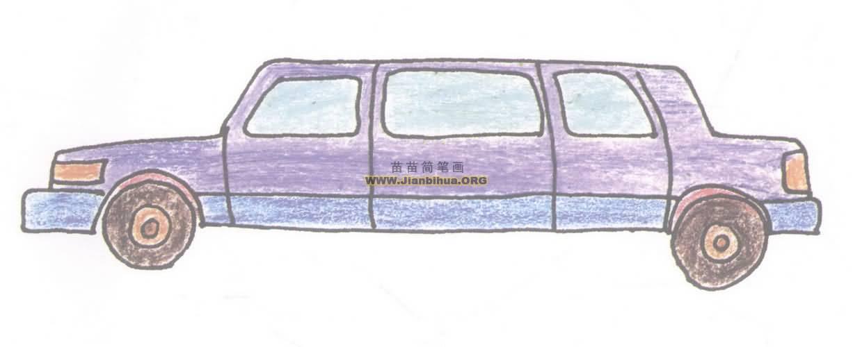 小轿车简笔画图片教程