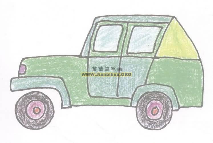 吉普车简笔画图片教程