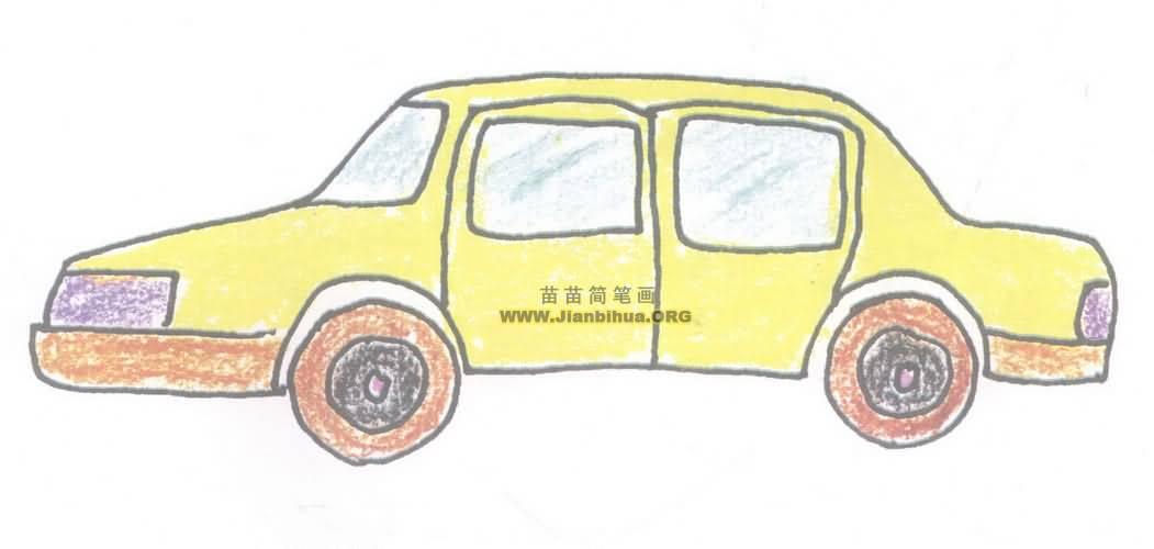 小轿车简笔画图片教程二