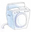 洗衣机简笔画图片教程二