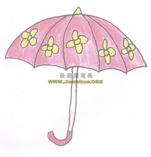 小雨伞简笔画图片教程