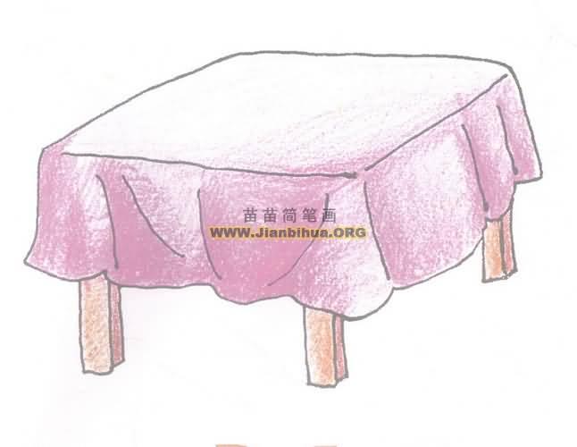桌子简笔画图片教程