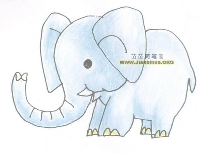 大象简笔画步骤教程