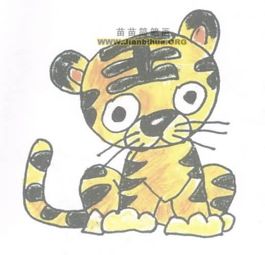 小老虎简笔画图片