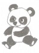 熊猫简笔画图片教程二