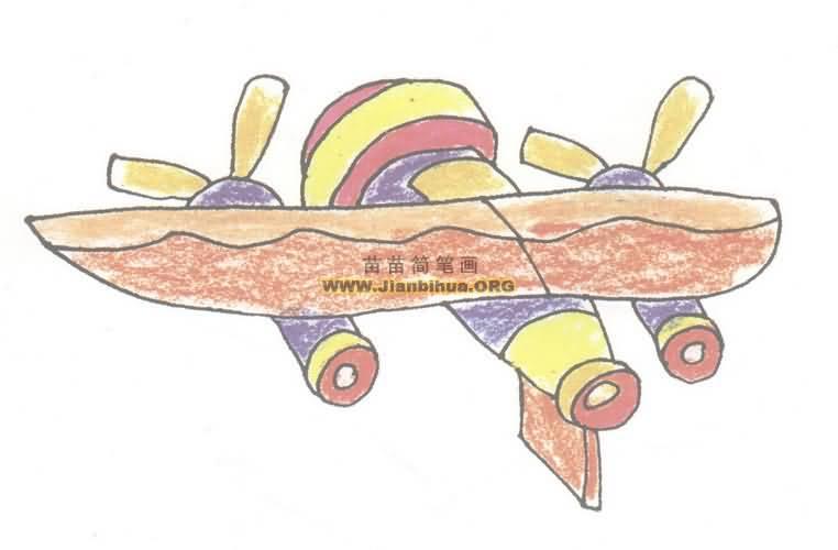 飞船简笔画图片