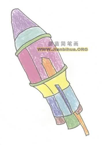 运载火箭简笔画图片教程