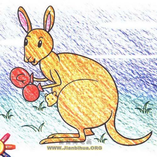 袋鼠简笔画画法图解