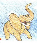 非洲象简笔画图片教程