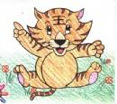 小老虎简笔画画法图解