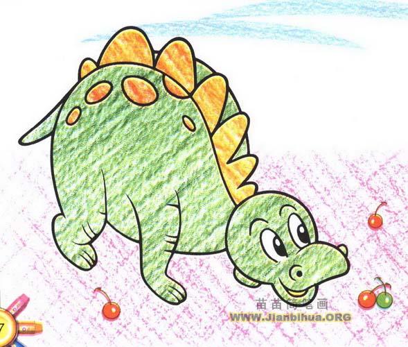 恐龙简笔画图片教程图片