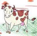 奶牛简笔画图片教程