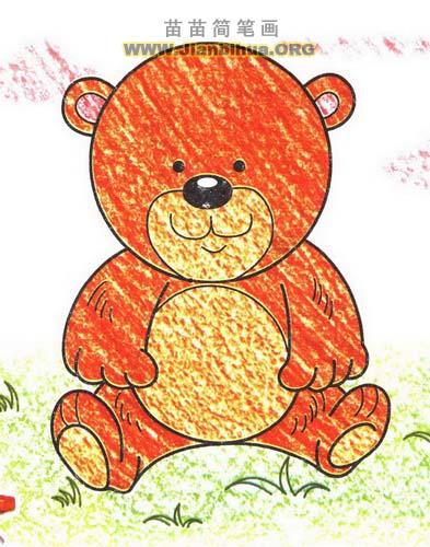 小熊简笔画图片