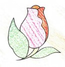 玫瑰花简笔画画法图解