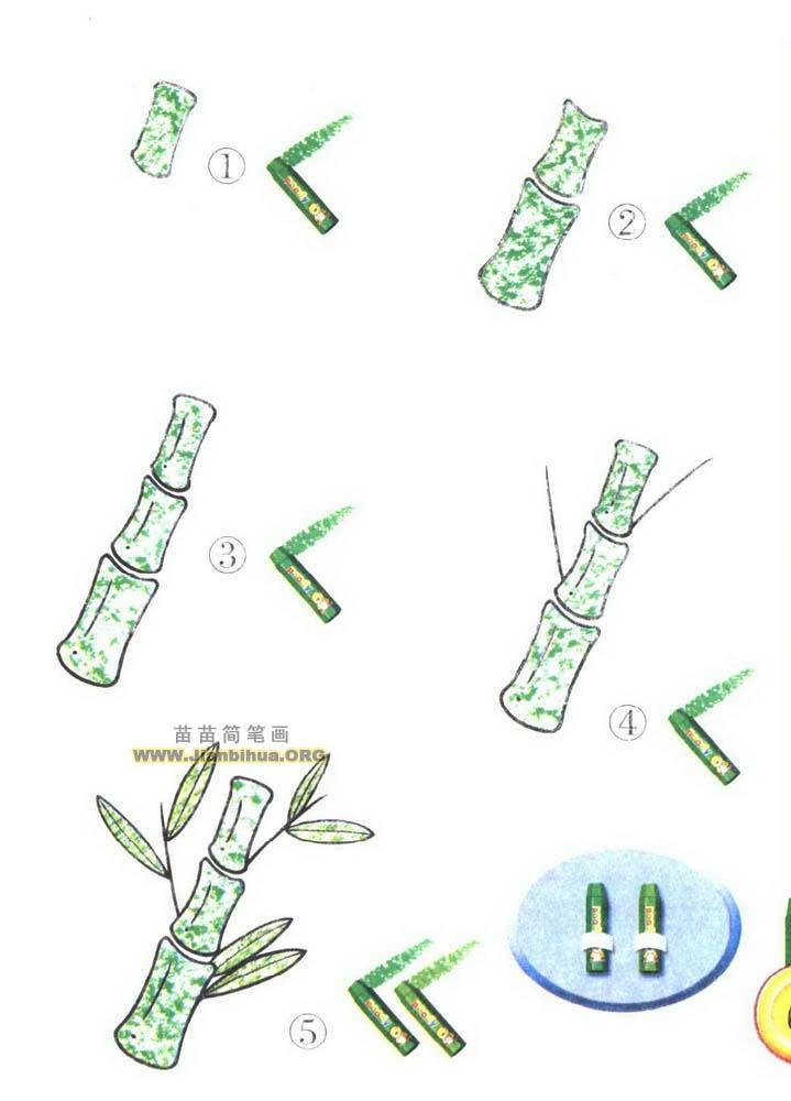 竹子简笔画图片教程