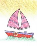 如何画帆船简笔画图片教程