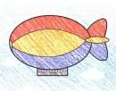 如何画飞艇简笔画图片教程