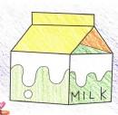 盒装牛奶简笔画图片教程