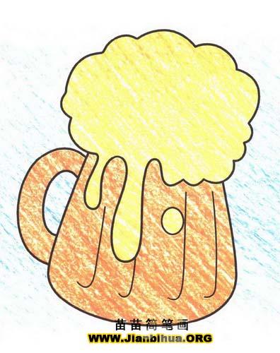 啤酒简笔画图片教程