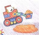 挖土机简笔画图片教程