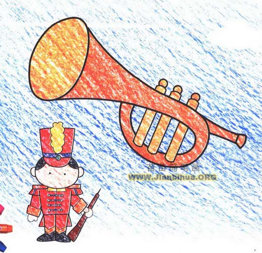 小号铜管乐器简笔画图片