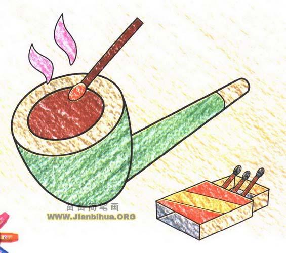 烟斗简笔画图片