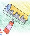油漆滚筒刷简笔画图片教程