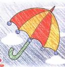 雨伞简笔画画法图解