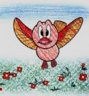 飞翔的鸟简笔画图片教程