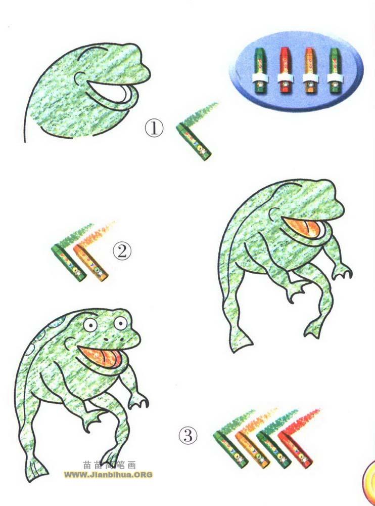 青蛙简笔画画法图解