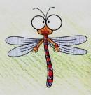 如何画蜻蜓简笔画图片教程