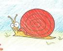 蜗牛简笔画画法图解