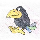 小乌鸦简笔画图片教程