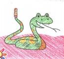 响尾蛇简笔画图片教程