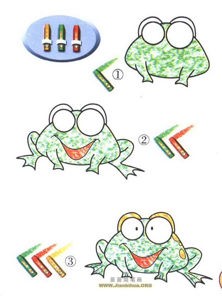 小青蛙简笔画图片教程