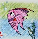 卡通鱼简笔画图片教程