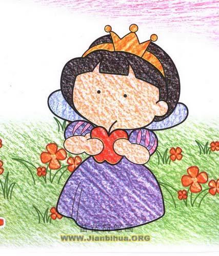 白雪公主简笔画图片教程
