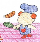 厨师简笔画画法图解