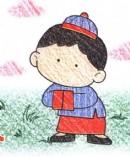 古装中国男孩简笔画图片教程