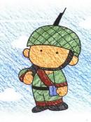 军人简笔画图片教程