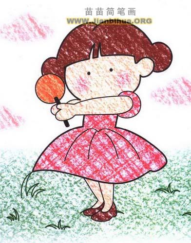 女孩简笔画图片