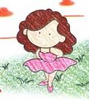 漂亮女孩简笔画图片教程